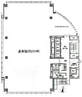 西新宿KSビル:基準階図面