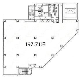 新四curumuビル:基準階図面