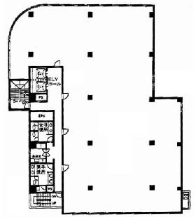 新宿御苑ビル:基準階図面