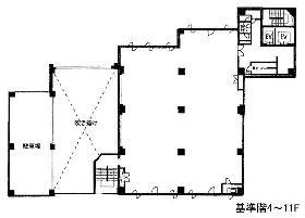 YKBエンサインビル:基準階図面