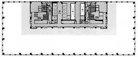 ダイバーシティ東京オフィスタワー:基準階図面