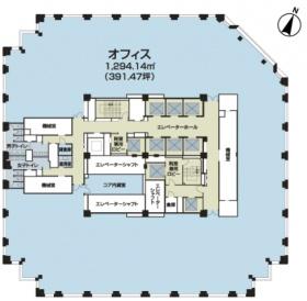 セルリアンタワー:基準階図面