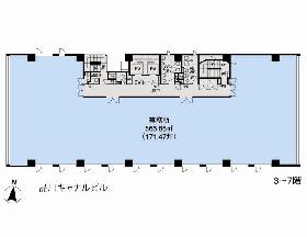 品川キャナルビル:基準階図面