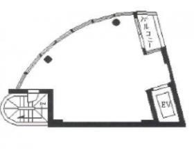 渋谷ランドビル:基準階図面