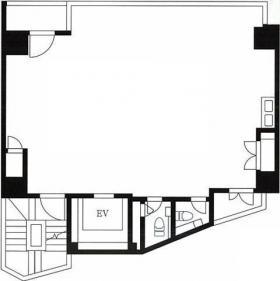 ユニゾ西新宿(旧クローバー西新宿)ビル:基準階図面