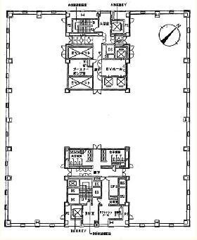 浜離宮パークサイドプレイス:基準階図面
