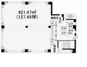 日専連ビル:基準階図面