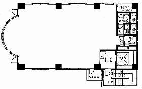 中北ビル:基準階図面
