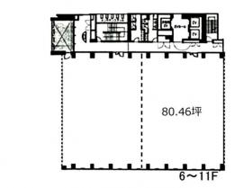 グラスシティ渋谷ビル:基準階図面