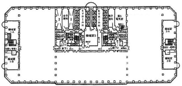新宿アイランドタワーの基準階図面
