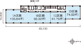 一ツ橋SIビル:基準階図面