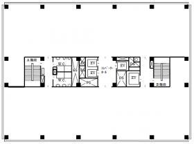 龍名館本店ビル:基準階図面