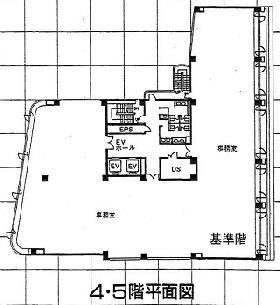 泉館三番町ビル:基準階図面