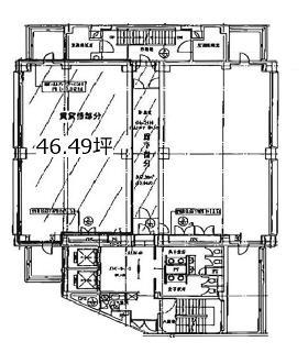 SP神保町ビル:基準階図面