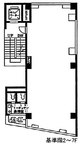 八重洲早川第2ビル:基準階図面