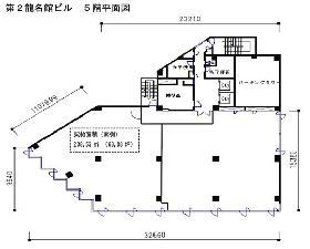 第2龍名館ビル:基準階図面