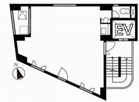 MJ原宿ビル:基準階図面