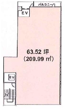 平野ビル:基準階図面
