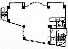 YK駿河台ビル:基準階図面
