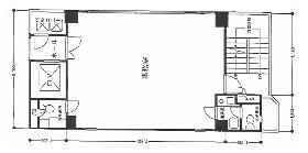 東京リアル宝町ビル:基準階図面