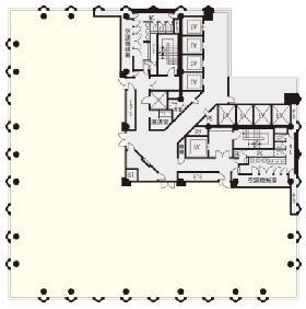 日土地西新宿ビル:基準階図面