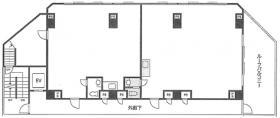 藤和シティコープ高円寺南・春木屋ビル:基準階図面