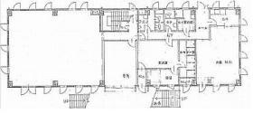 東雲事務所ビル:基準階図面