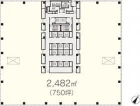 有明セントラルタワー:基準階図面