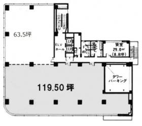 タニビル:基準階図面