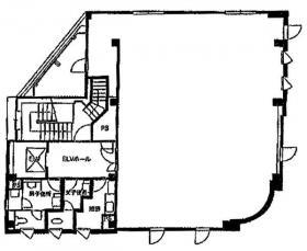 クロス本社ビル:基準階図面