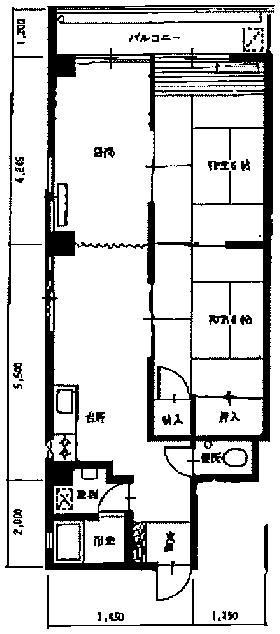 麹町ロイヤルマンション:基準階図面