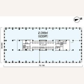 三菱ビル:基準階図面