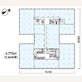 新有楽町ビル:基準階図面