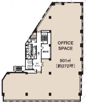 興和二番町ビル:基準階図面