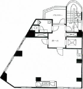 第3早川屋ビル:基準階図面
