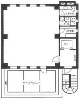 フタバ九段ビル:基準階図面