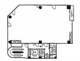 新富191ビル:基準階図面