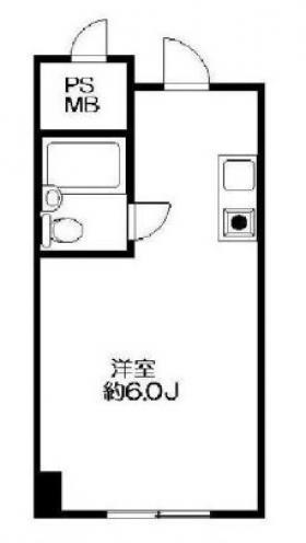 朝日九段マンションビル:基準階図面