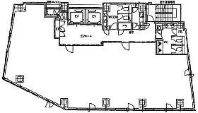 麹町市原ビル:基準階図面