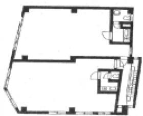 大和屋第1ビル:基準階図面