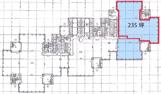 新宿パークタワーの基準階図面