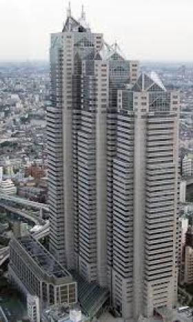 新宿パークタワーのエントランス