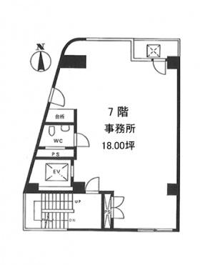 武蔵屋ビル:基準階図面