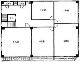 山京ビル本館:基準階図面