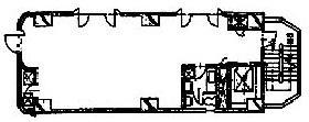 山田ラインⅡビル:基準階図面