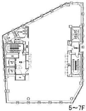 THE ITOYAMA TOWER:基準階図面