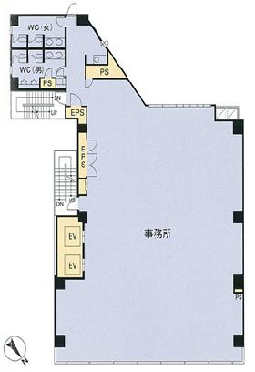 HF神田小川町ビルディング(旧神田小川町トーセイビルⅡ):基準階図面