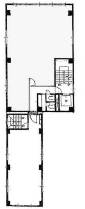 ビッグウエスト3号館ビル:基準階図面