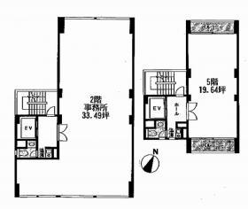 岡崎第13ビル:基準階図面
