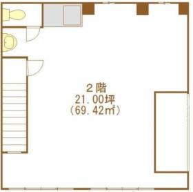 JR高架下千代田ビル:基準階図面